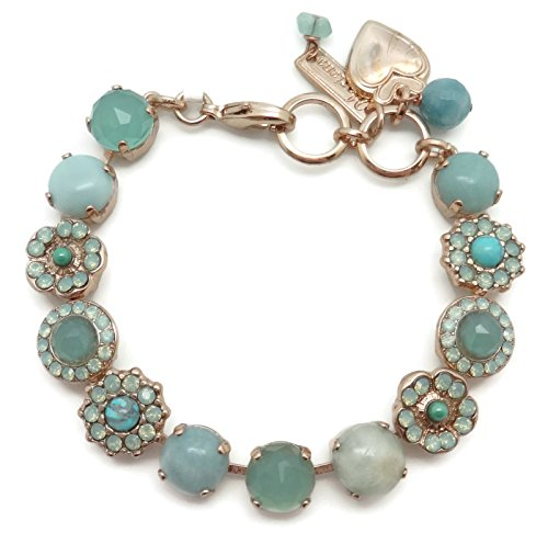 - Mariana Swarovski Crystal Rose Goldtone Bracelet Pacific Opalescent & Light Green Mosaic 8068
