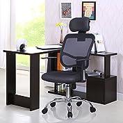 Black Modern Ergonomic Mesh High Back Executive Computer Desk Task Office Chair
