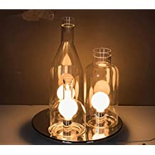 YanCui@ Lighting decorative Utility Table Lamp Continental Bottle Lamp Bedroom Study Bedside Gifts Lamp Three Heads Dimmable Glass Table Lamp , ferry color