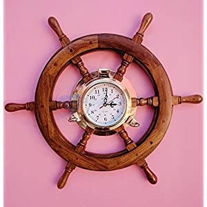 513s0cLv8PL._SS300_ Best Ship Wheel Clocks