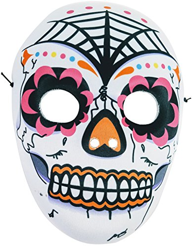 Dia De Los Muertos Mask, Day of the Dead, Halloween, Mardi (Santa Muerte Costume)