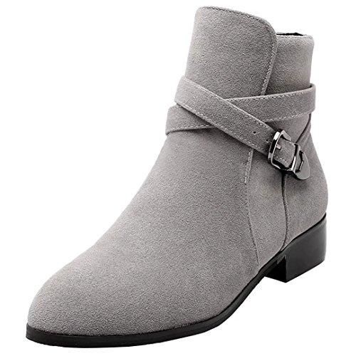 AIYOUMEI Women's Classic Boot Grey SAwsVi