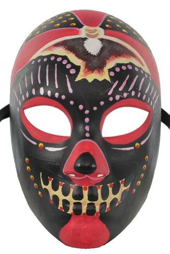 [RedSkyTrader Men's Dia De Los Muertos Mask] (Day Of The Dead Female Mask)
