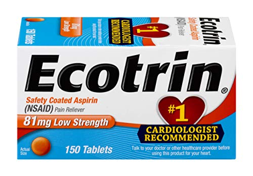 (Ecotrin Low Strength Safety Coated Aspirin | NSAID | 81mg | 150 Tablets)