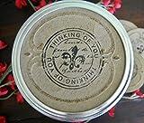Fleur De Lis, Mason Jar Labels, Mason Jar Stickers, Thinking of You, Jar Lid Stickers, Canning Jar Gift Tags