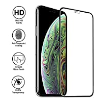 Screen Protector Compatible for iPhone Xs MAX, Tempered Glass Screen Protector, 3D Full Frame Curved Edge, 9H Hardness, Easy Installation,Case Friendly Compatible for iPhoneXs MAX, (XSmax-2pack) by TangDirect