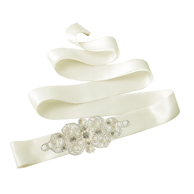 Azaleas Women's Crystal Bridal Sash Belts Wedding Belt Sashes for Wedding
