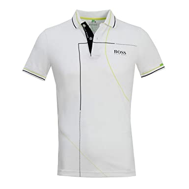 541b8f7b Amazon.com: Hugo Boss Mens Polo Paddy MK1 50403516 100 White: Clothing