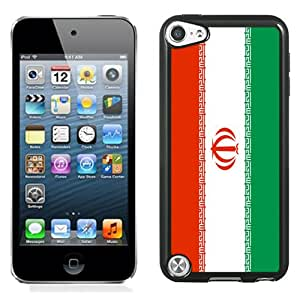 NEW Fashion Custom Designed Cover Case For iPod 5 Iran Flag Black Phone Case