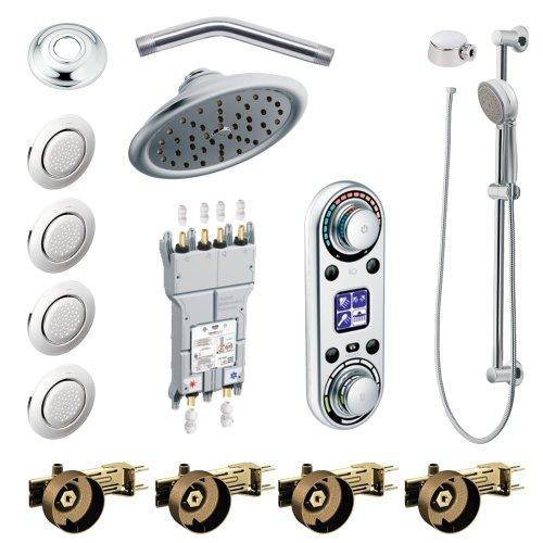- Moen KSPIO-HSB-TS296CR Vertical Spa Kit with Handheld Shower and Slide Bar, Chrome