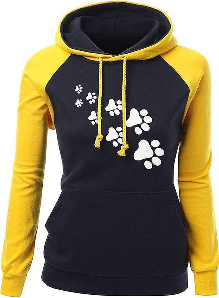 TALLA XL (EU 40/42). Cocrao Sudadera con Capucha de Manga Larga para Mujer Casual de Invierno con Cuello Alto