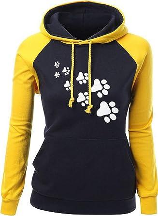 Cocrao Damen Langarm Kapuzen Pullover Winter Casual Loose Hohe Kragen Sweatshirt  Hoodie Pulli mit Tasche  Amazon.de  Bekleidung 3a78fa8098