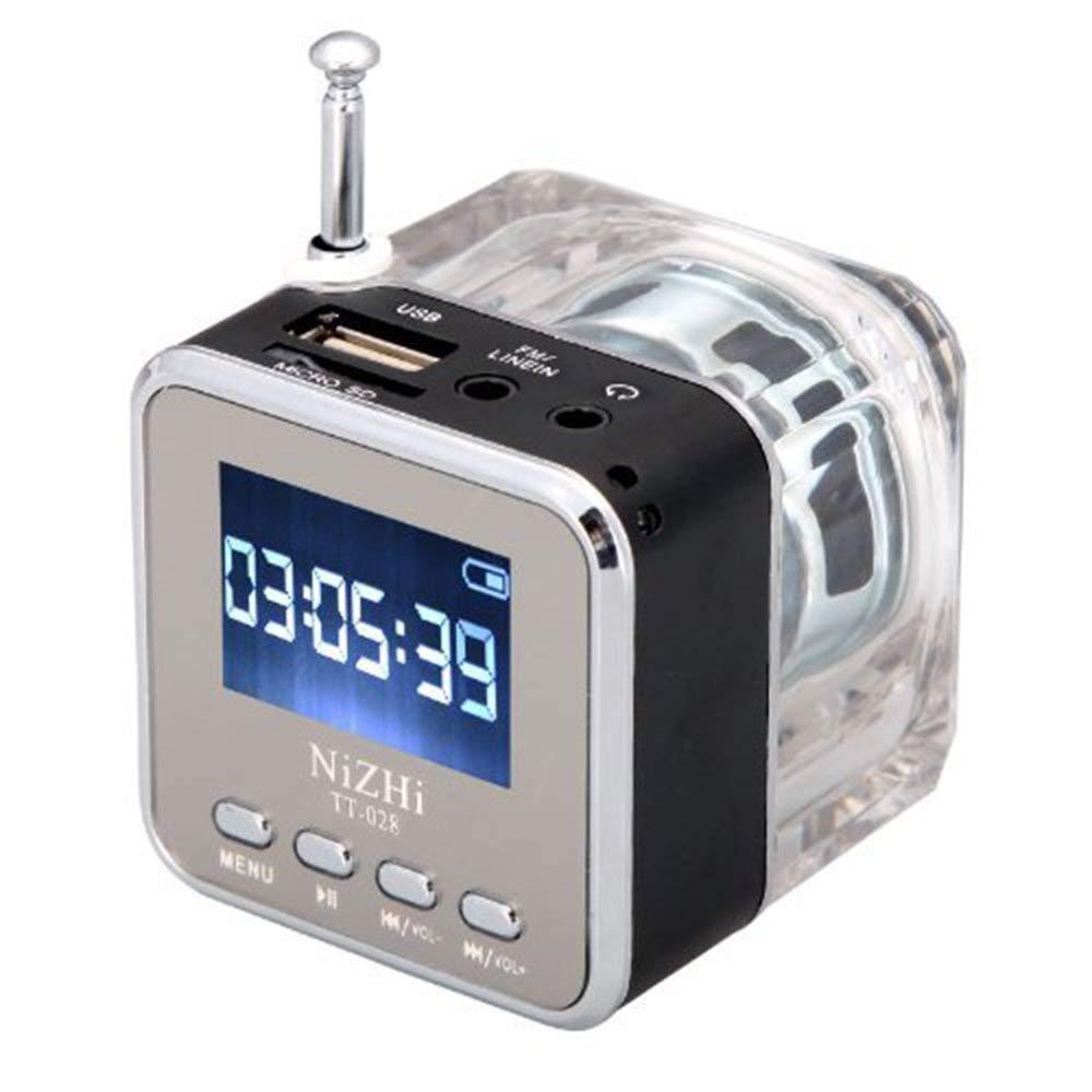 Portable Mini Speaker, Sudroid NiZHi TT-028 MP3 Mini Digital Portable Music Player Micro SD USB FM Radio (Black) by Sudroid