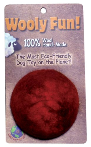 Cheap One Pet Planet 86014 3.5-Inch Wooly Fun Ball Dog Toy