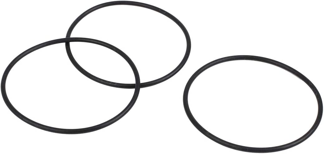X AUTOHAUX 3pcs Black NBR70 Rubber O-Ring Washer Sealing Gasket for Car 63 x 2.5mm