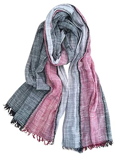 extra long cotton scarf - 8