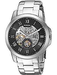 Fossil Men's ME3055 Grant Analog Display Automatic Self Wind Silver Watch