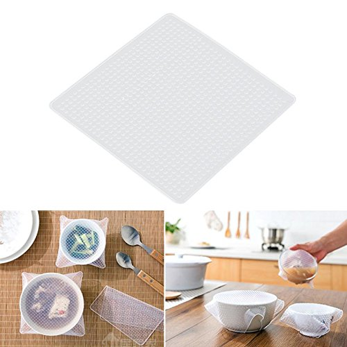 Price comparison product image Silicone Bowl Cover Lid Refrigerator Preservative Film Reusable Stretchable Food Container Seal Mat - Food Cover