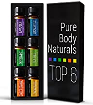 Aromatherapy Top 6 Essential Oils – Therapeutic grade – with Lavender, Tea Tree, Eucalyptus, Sweet…