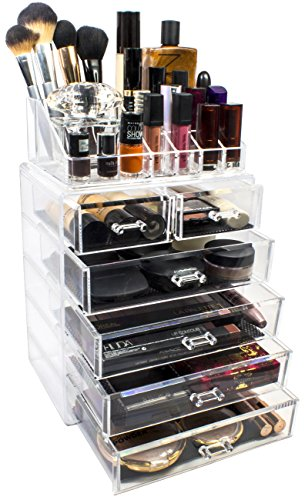 Sorbus Acrylic Cosmetics Jewelry Storage
