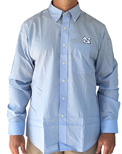 Carolina Oxford (Antiqua North Carolina Tarheels Men's Dynasty Button Down Long Sleeve Dress Shirt (X-Large))
