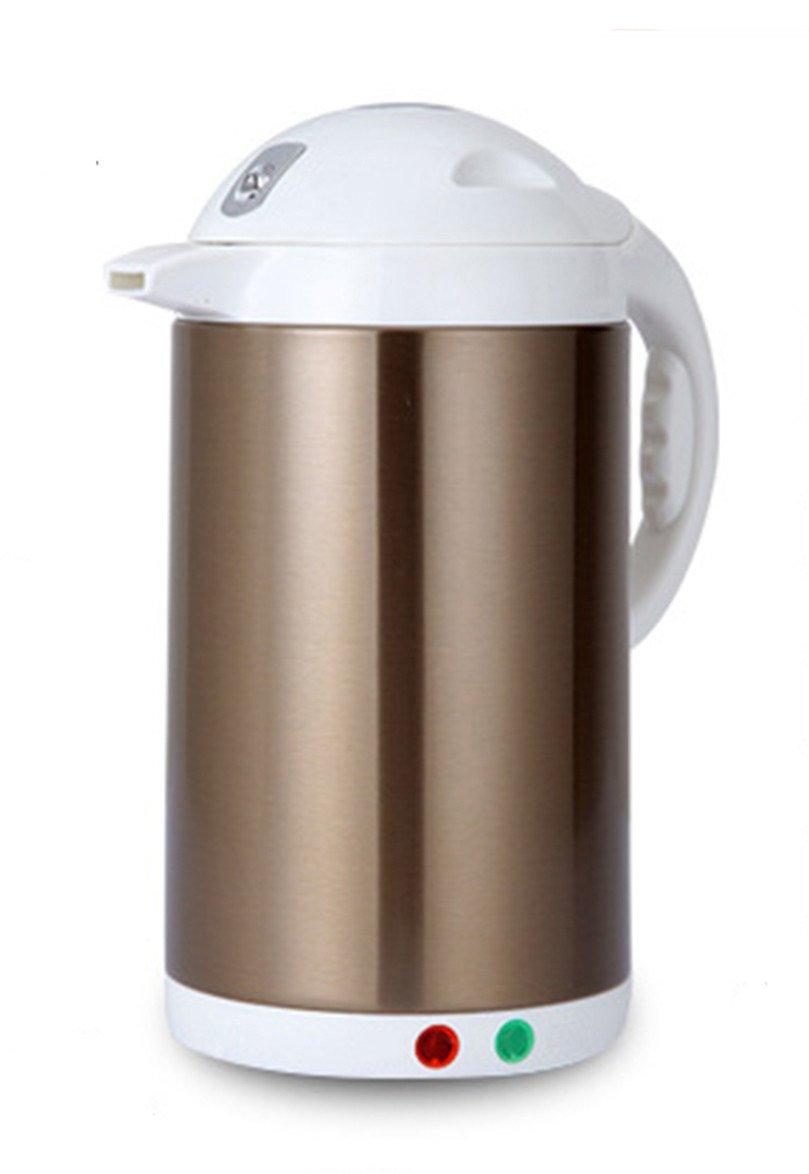 LifeEasyTool Elektrische Wasserkocher Edelstahl Automatische Hitze-Bewahrung Wasserkessel und Abnehmbare Niedrige Temperatur-Steuer Teekessel Doppel Wärmeisolierung Kessel1.8L 1000W