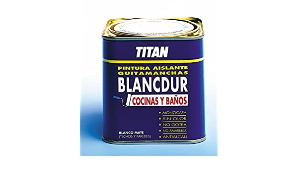 Titan M41892 - Pintura quitamanchas blancdur 750 ml: Amazon.es: Bricolaje y herramientas