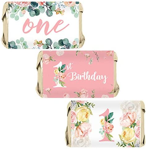 Floral Birthday Party Wrappers Stickers product image