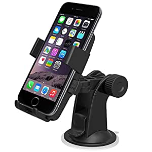 iOttie Easy One Touch Windshield Dashboard Car Mount Holder for iPhone 7/6s/6, Galaxy S8/S7- Retail Packaging- Black