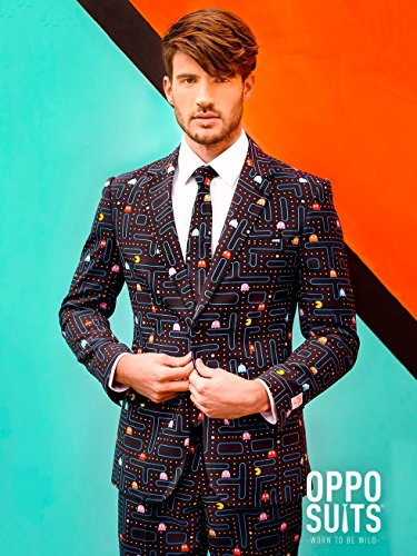 OppoSuits Mens PAC-MAN Party Suit - Video Game Costume, 44