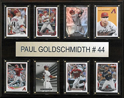 C&I Collectables MLB Arizona Diamondbacks Paul Goldschmidt Plaque (8-Card), 12 x 15-Inch from C&I Collectables