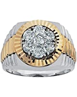 14k Two-tone Gold 1ct tw Cluster Ring.