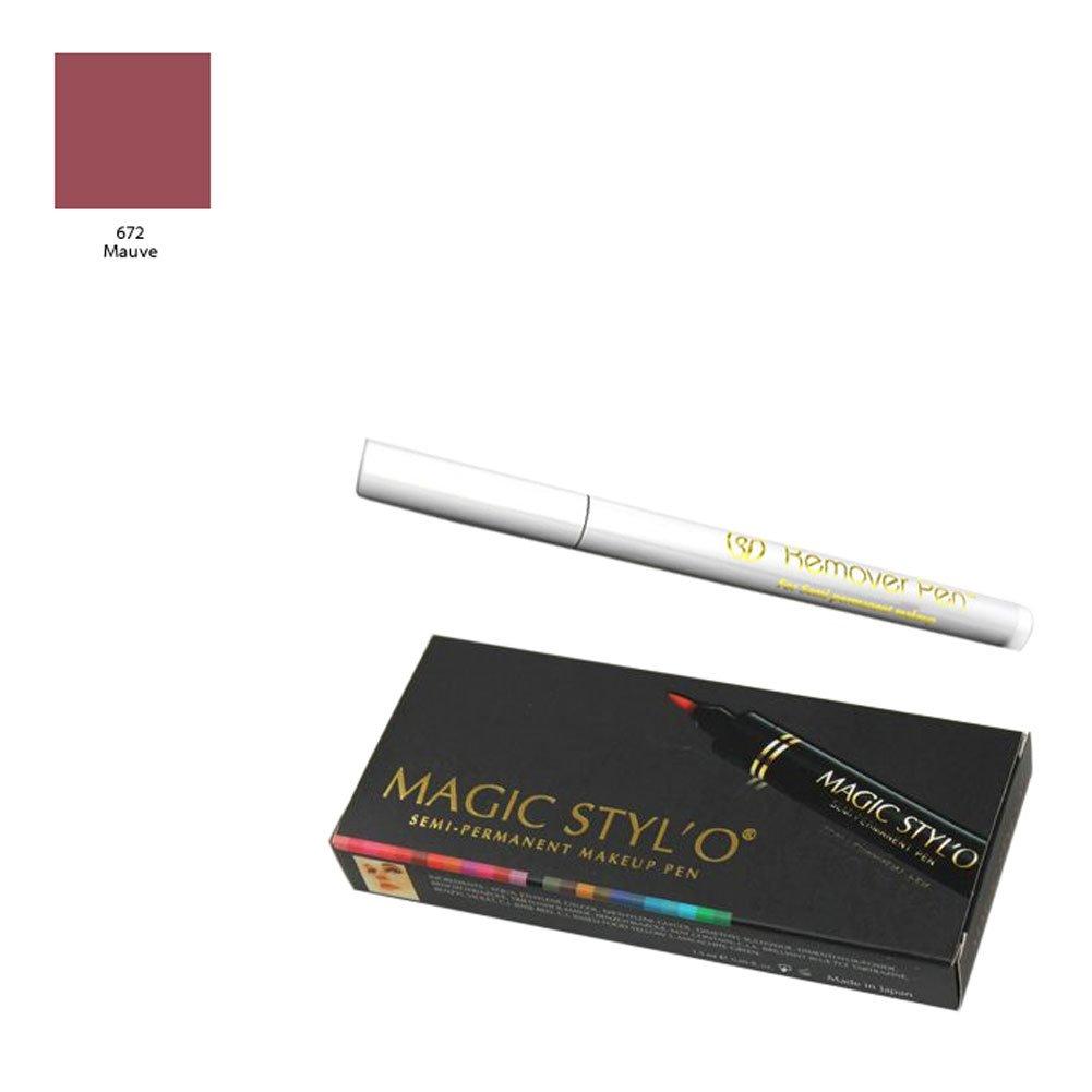 Bundle of 2 Items: Magic Stylo Semi Permanent Makeup Pen in Mauve with Remover Pen