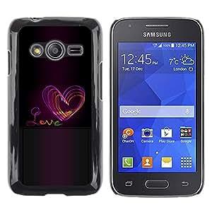 iKiki Tech / Estuche rígido - Heart Purple Black Text - Samsung Galaxy Ace 4 G313 SM-G313F