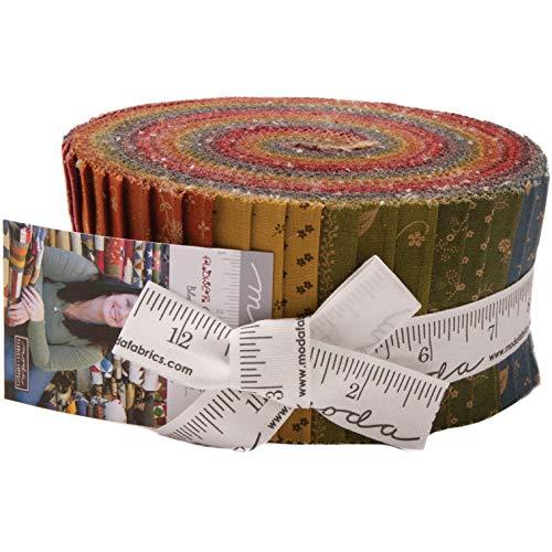 Primitive Gatherings Flower Garden Gatherings Jelly Roll 40 2.5-inch Strips Moda Fabrics ()