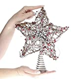 Factory Direct Craft Natural Christmas Tree Topper with Coil Base (Twigs & Berries)