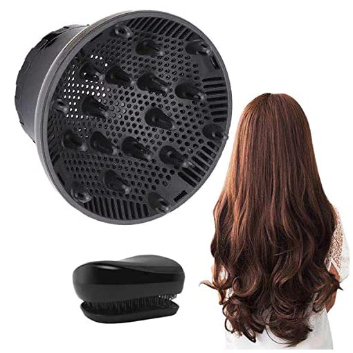 Hair Diffuser, Universal Hair Diffuser Attachment, Hair Dryer Diffuser Suitable for 1.4-inch to 2.6-inch Blow Dry, Professional Salon Tool for Fine Thick Curly Frizzy and Wavy Hair (Black) - 513s4oWzO3L - Hair Diffuser, Universal Hair Diffuser Attachment, Hair Dryer Diffuser Suitable for 1.4-inch to 2.6-inch Blow Dry, Professional Salon Tool for Fine Thick Curly Frizzy and Wavy Hair