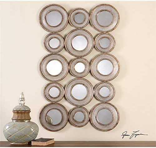 Uttermost Vobbia Decorative Mirror in Burnished Silver Leaf
