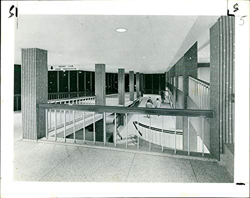 Vintage photo of The extensive use of sloping ramps in the Eastern.