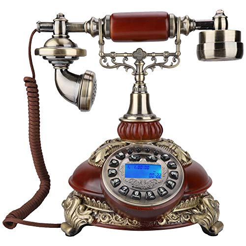 Tangxi 8675C Wireless GSM European Retro Card Telephone Classical Wood Color Retro Old Fashioned Rotary Dial Home and Office Telephone from Tangxi