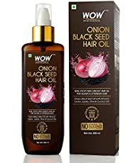 WOW Onion Black Seed Hair Oil for Natural Hair Care & Growth - Almond, Castor, Jojoba, Olive & Coconut Oils - 200mL