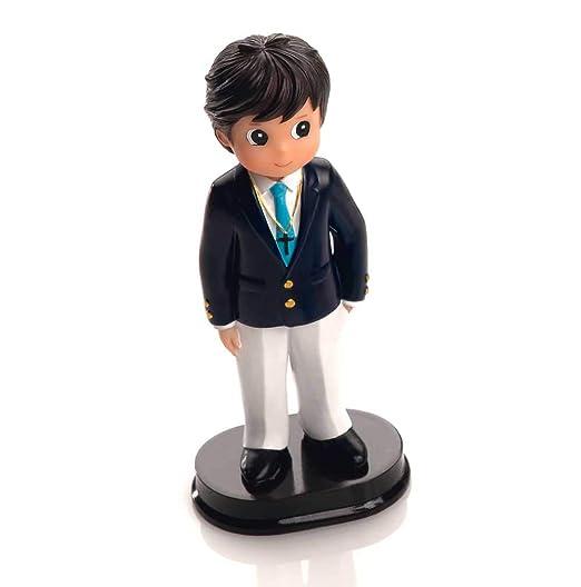 Figura para tarta de Comunión, niño con chaqueta marino y pantalón ...