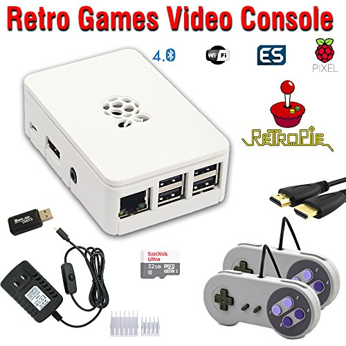 RetroBox - Raspberry Pi 3 Based Retro Game Console, 32GB Edition with Heatsinks Installed, RetroPie by Crisp Concept Ltd.