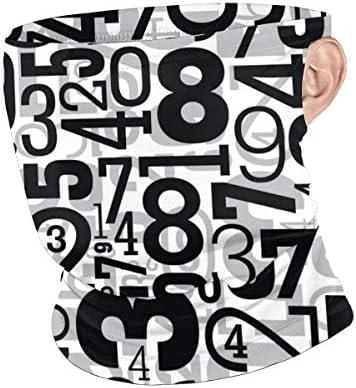 フェイスカバー Uvカット ネックガード 冷感 夏用 日焼け防止 飛沫防止 耳かけタイプ レディース メンズ Pattern With Numbers
