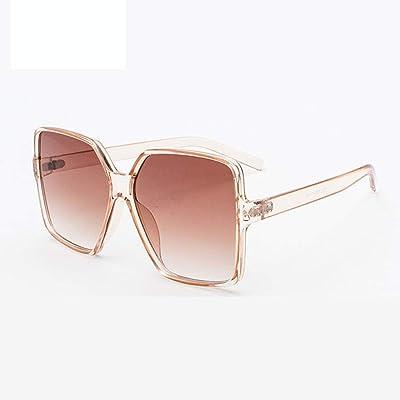 HLLHDG Gafas de Sol de Gran tamaño Mujeres Caramelo Damas Sombras Marco Grande Gafas de Sol Protección Femenina: Deportes y aire libre