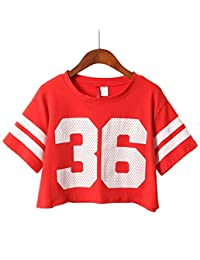Summer Cotton Casual 36 Numbers Crop Tops