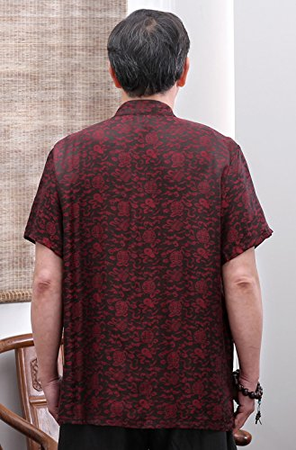 High-end Business Shirts Tang Suit Casual Shirts Chinese National Style Mulberry Silk by JIANYUAN-Tang Suit (Image #5)