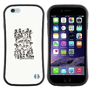 "Hypernova Slim Fit Dual Barniz Protector Caso Case Funda Para Apple (4.7 inches!!!) iPhone 6 / 6S (4.7 INCH) [Caligrafía Diseño Abc Blanca""]"