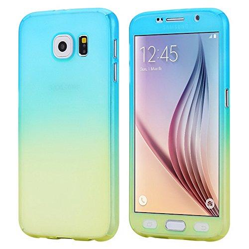 360 Degree Hard Plastic Case for Samsung Galaxy S6 Edge (Gold) - 8
