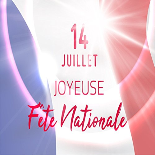 CSFOTO 5x5ft Background for French Holiday July 14th Photography Backdrop Happy National Day Bastille Day The French Revolution Freedom Tradition Celebration Photo Studio Props Polyester -